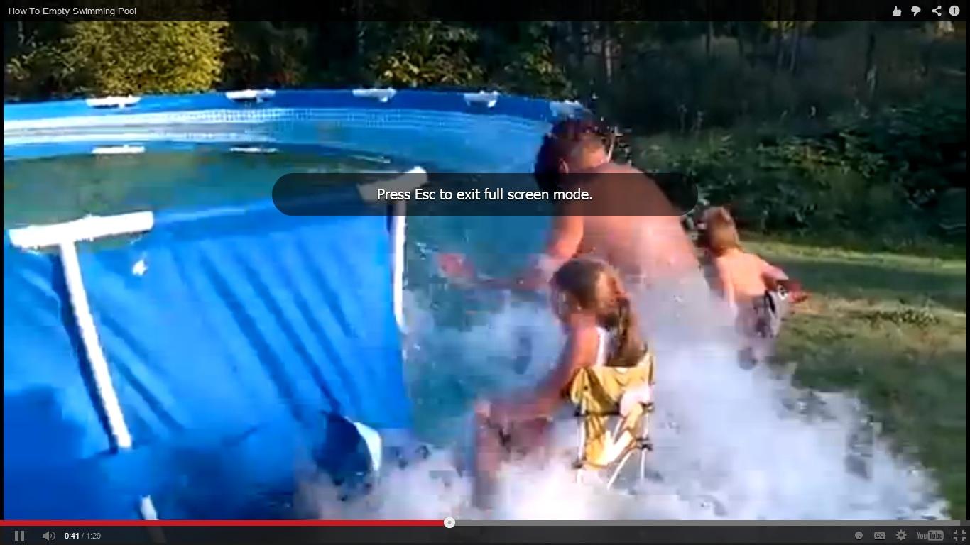 Как реднекът изпразва басейн (ВИДЕО)