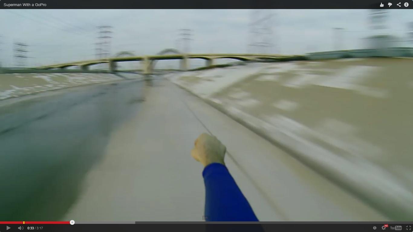 Супермен с GoPro камера (ВИДЕО)