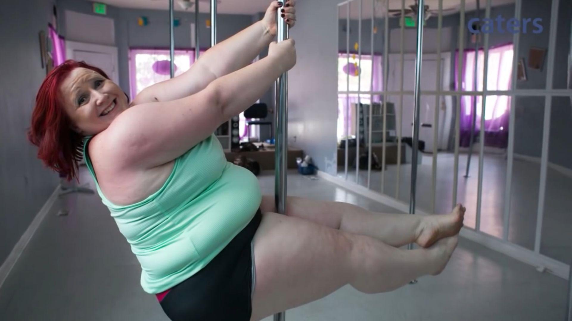 Внимание! Най-дебелата танцьорка на пилон в света (ВИДЕО)
