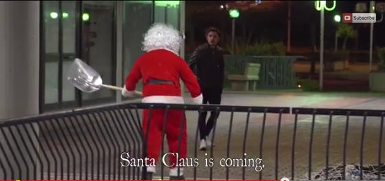 Дядо Коледа е психопат в този пранк (ВИДЕО)