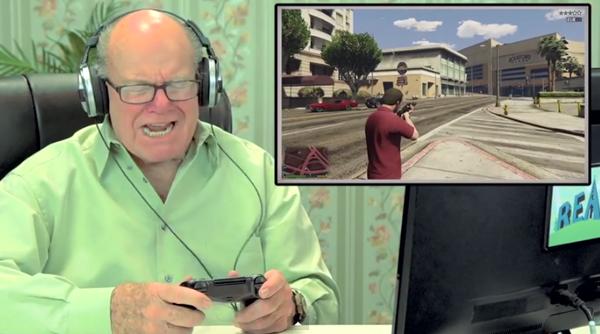 Баби и дядовци крадат коли и се кефят на новата GTA (ВИДЕО)
