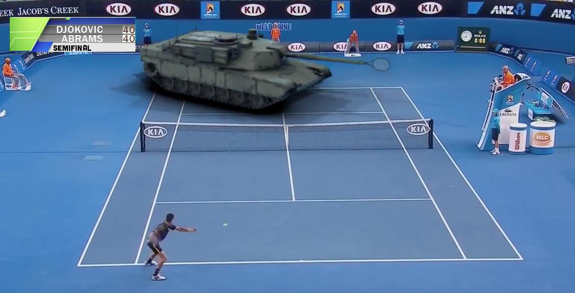 Джокович побеждава американски танк на тенис (ВИДЕО)