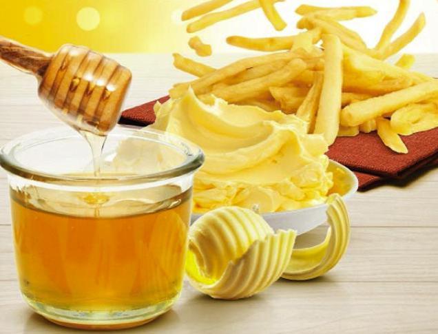 Пържени картофи с мед и масло