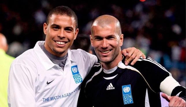 Зидан и Роналдо не са забравили как да галят топчето (ВИДЕО)