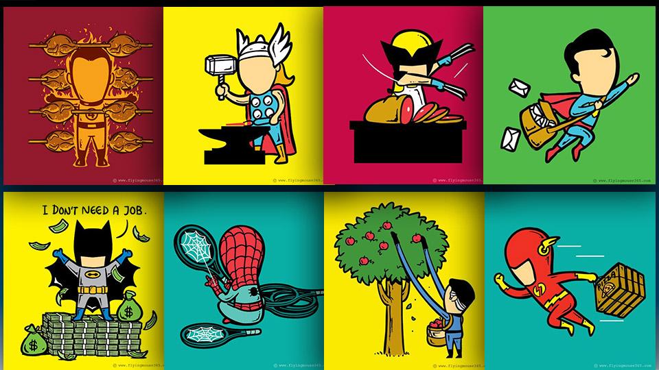 Супермен ще е пощальон, ако супергероите започнат работа (СНИМКИ)