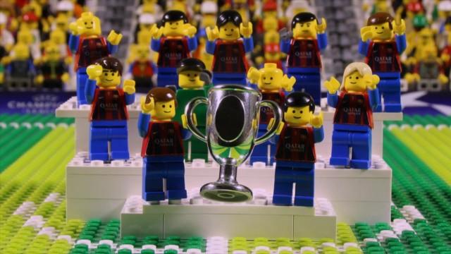 Човечетата от Лего пресъздават триумфа на Барса в Шампионската лига (ВИДЕО)