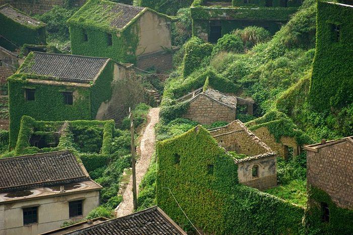 Изоставено рибарско селище е природна забележителност в Китай (СНИМКИ)