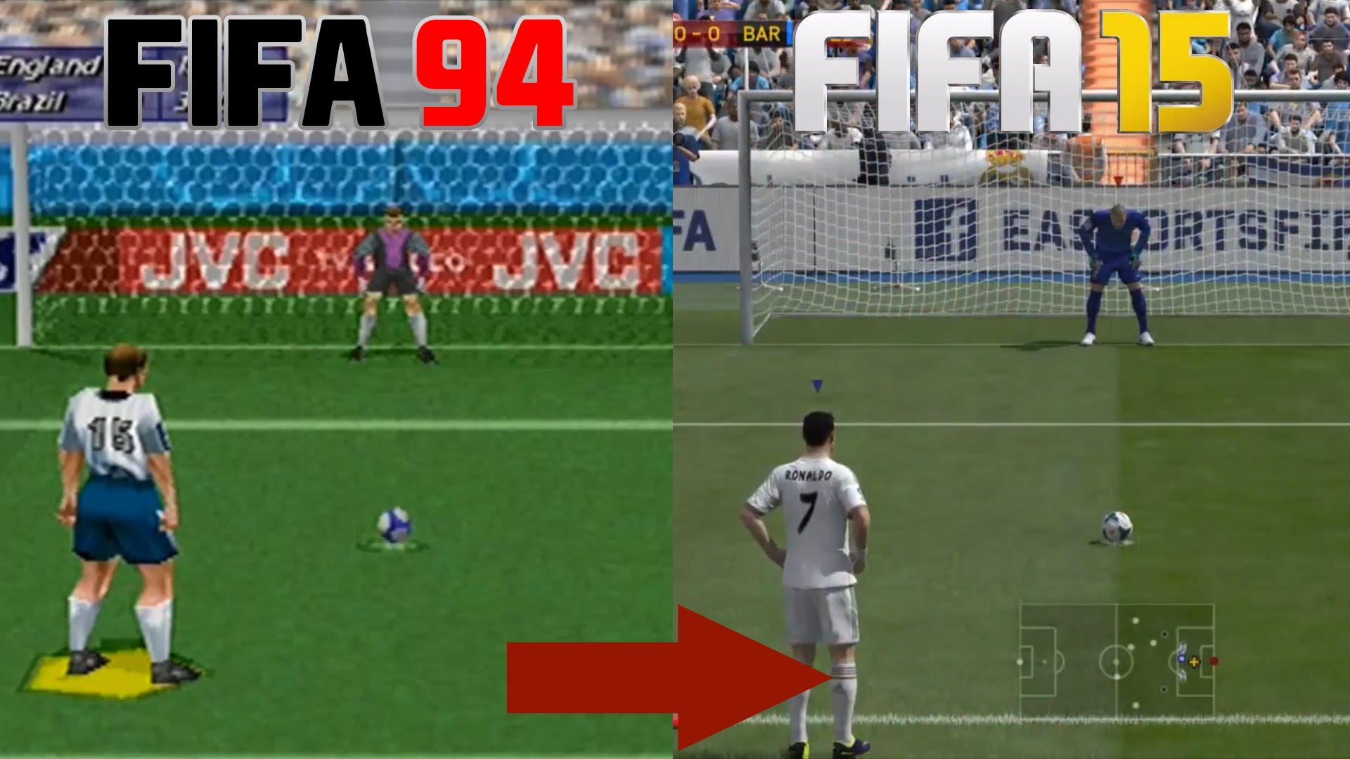 Как се промени изпълнението на дузпа от FIFA 94 до FIFA 15 (ВИДЕО)