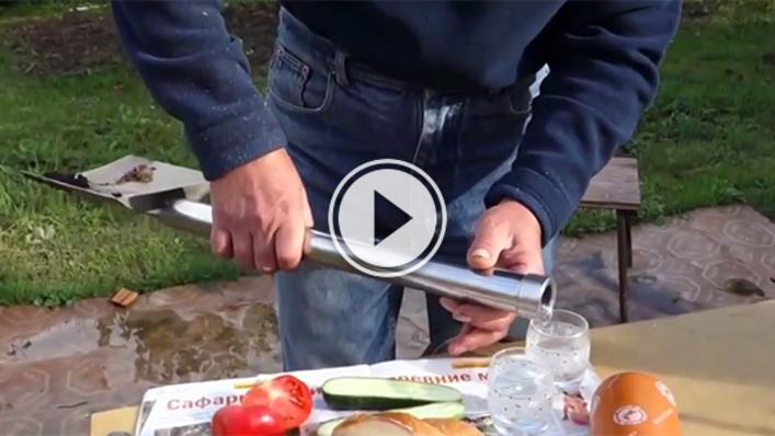 Руска лопата, която осигурява водка и мезе (ВИДЕО)