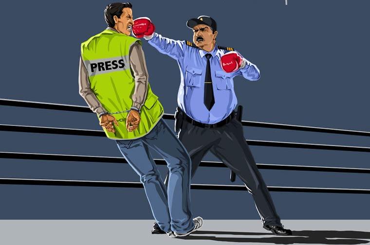 Яко сатира: Как действа полицията по света