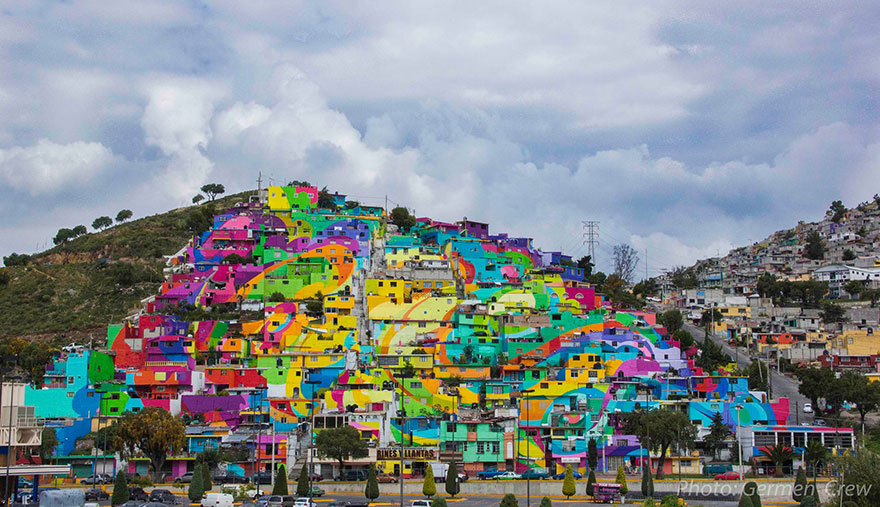 Как квартал в Мексико пребори престъпността чрез графити (СНИМКИ)