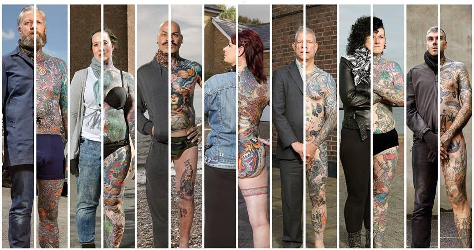 Виж как изглеждат татуираните хора с дрехи и без тях (СНИМКИ)