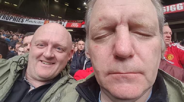 """Фен на Юнайтед заспа по време на мач на """"Олд Трафорд"""" (ВИДЕО)"""