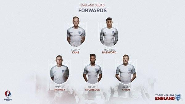 Знаем състава на Англия за Евро 2016