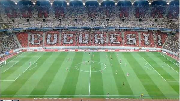 Фенове на Стяуа се обясниха в любов на Динамо Букуреш с хореография