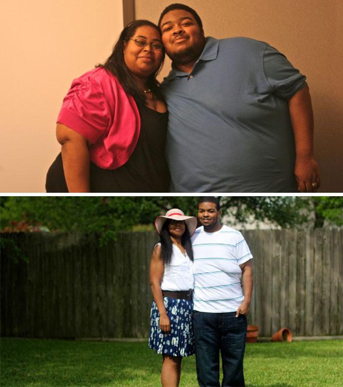 Влюбените двойки, които отслабнаха заедно (СНИМКИ)