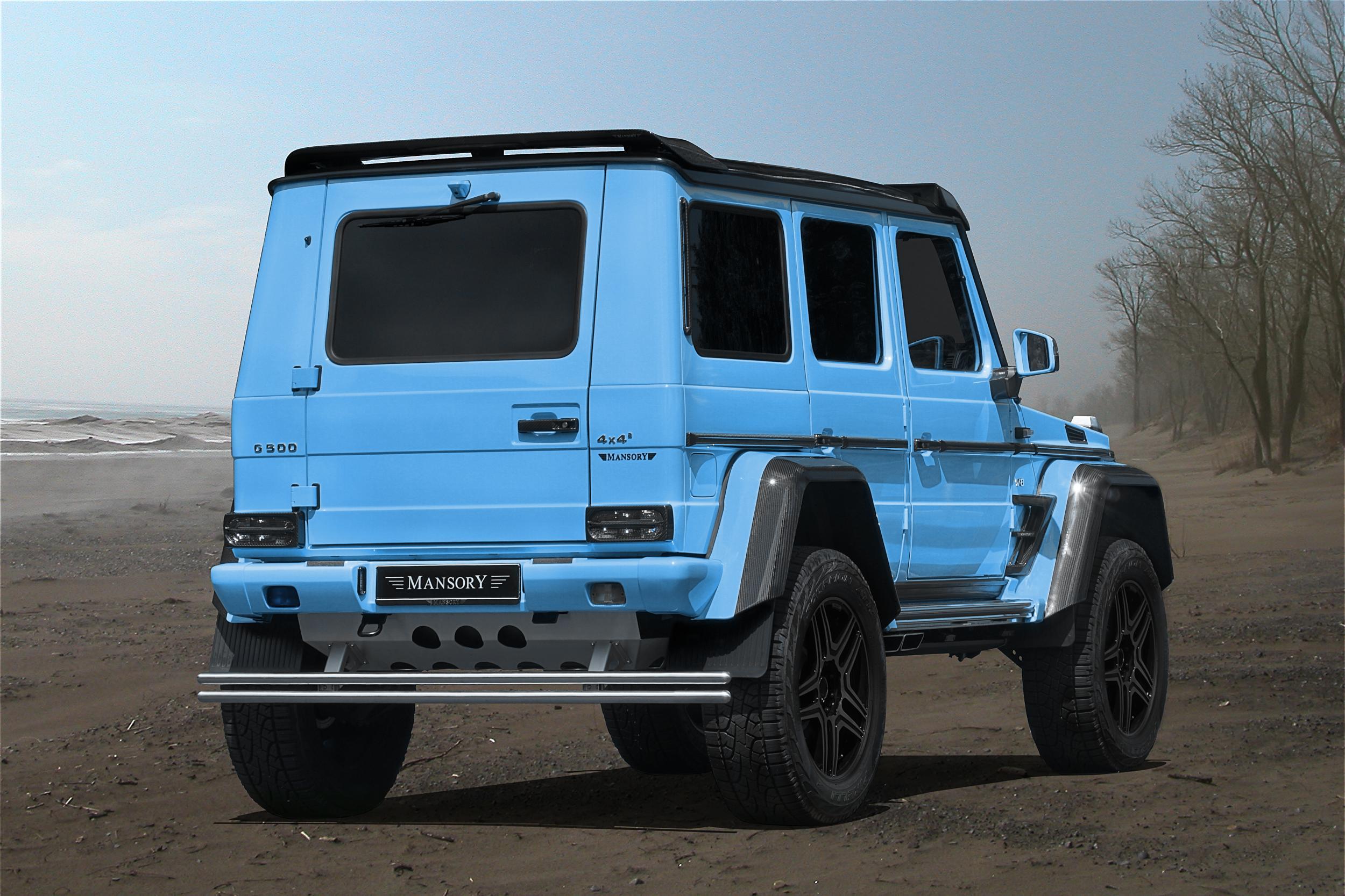 """Mercedes G 500 4×4² или """"Куб на квадрат"""" в карбонов костюм"""