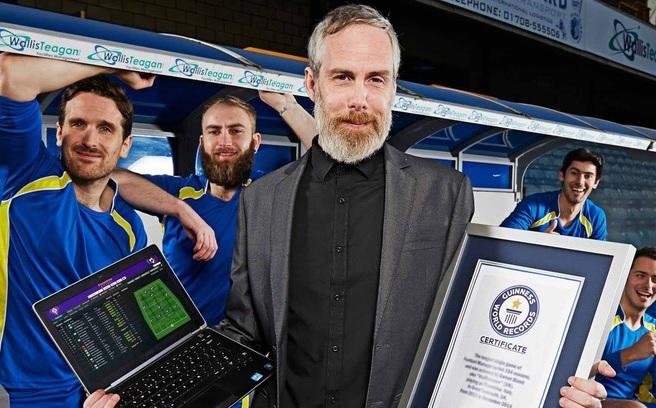 """Той игра 154 сезона на Football Manager и влезе в """"Гинес"""""""