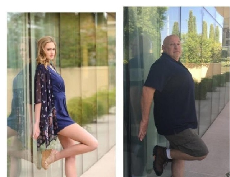 Много голям: Баща копира кифленските снимки на дъщеря си