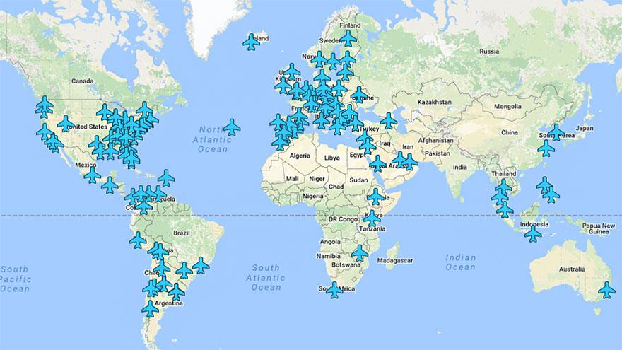 Даваме ти Wi-Fi паролите на летищата в цял свят с тази карта