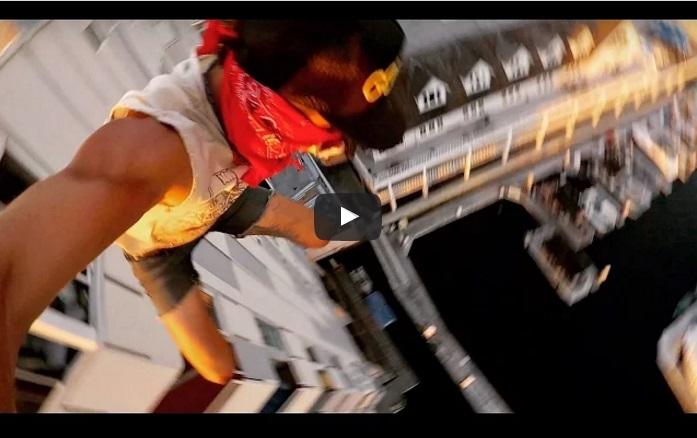 Той скочи от 40 метрова сграда и засне всичко с GoPro