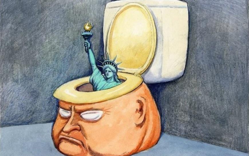 Най-добрите карикатури, които показват защо Тръмп не става за президент