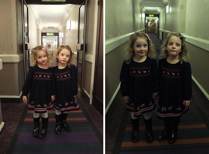 Баща ползва еднояйчните си близнаци да плаши хората в хотелите