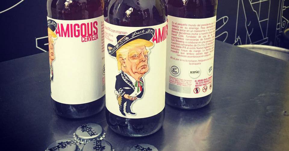 Мексико отвръща на удара: Пуснаха бира с Тръмп и свастика