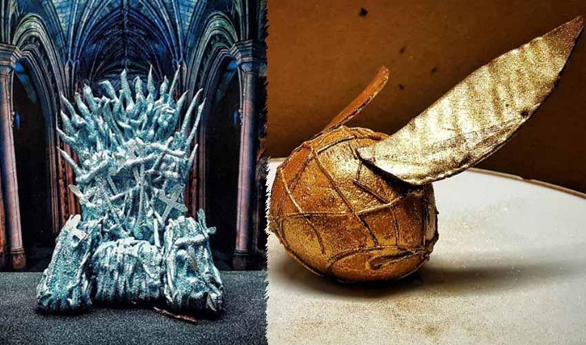 Готвач направи железния трон и златния снич на десерти