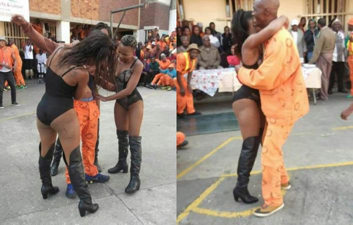 Затворници вдигнаха купон със стриптизьорки