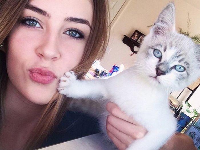Котки, които не искат да са част от селфитата на господарите си