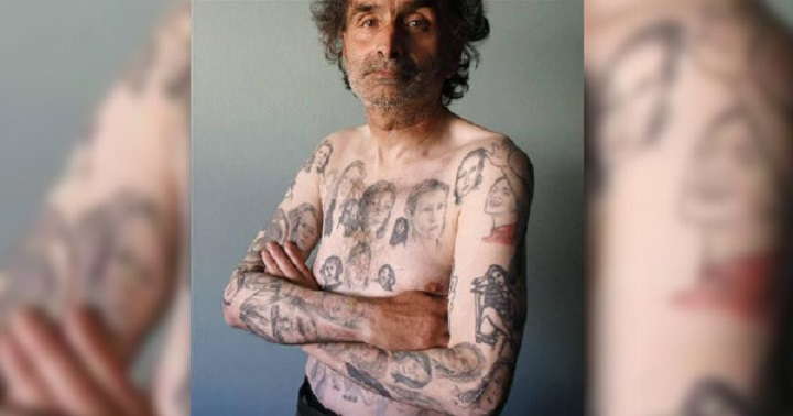 Жена надруса бившия си, за да татуира лика си 77 пъти по тяло му