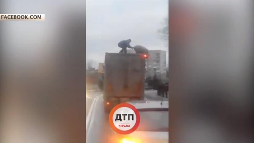 Прасе скочи от камион (ВИДЕО)