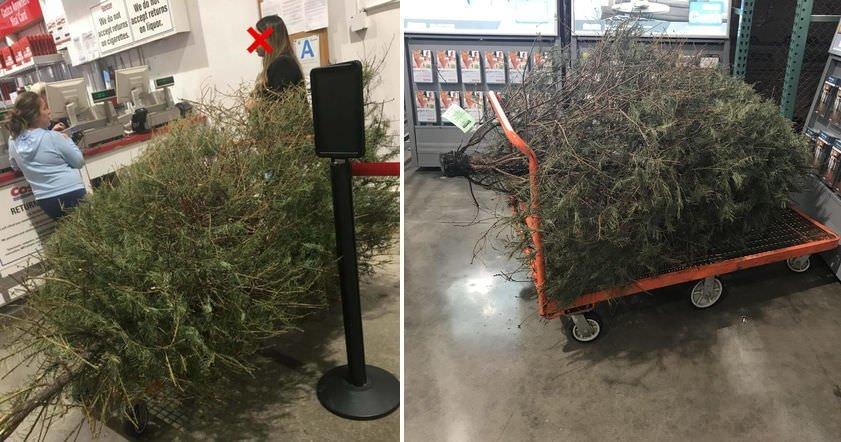 Жена опита да върне коледно дръвче на магазина след празниците