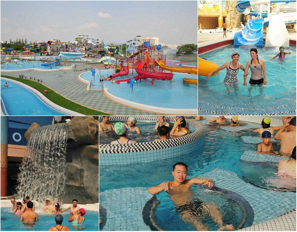 Северна Корея ликува, има си аквапарк (СНИМКИ)