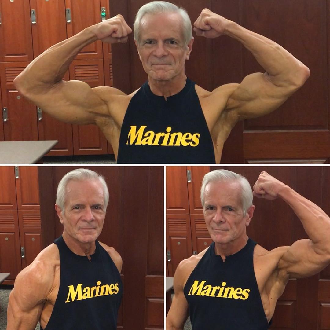 Пенсионерът, който ще те мотивира с тялото си