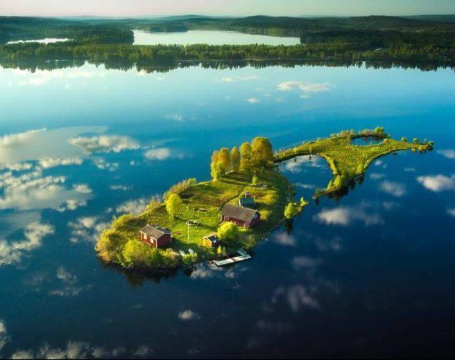Красотата на четирите сезона на малкък финландски остров