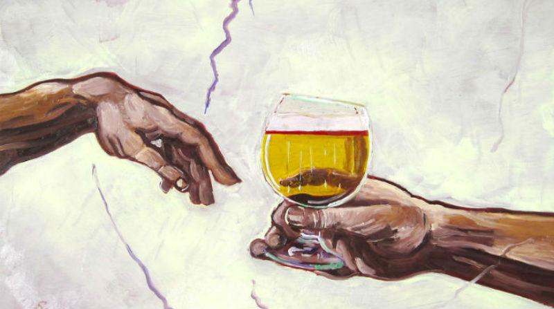 Художникът, който обича да рисува бира