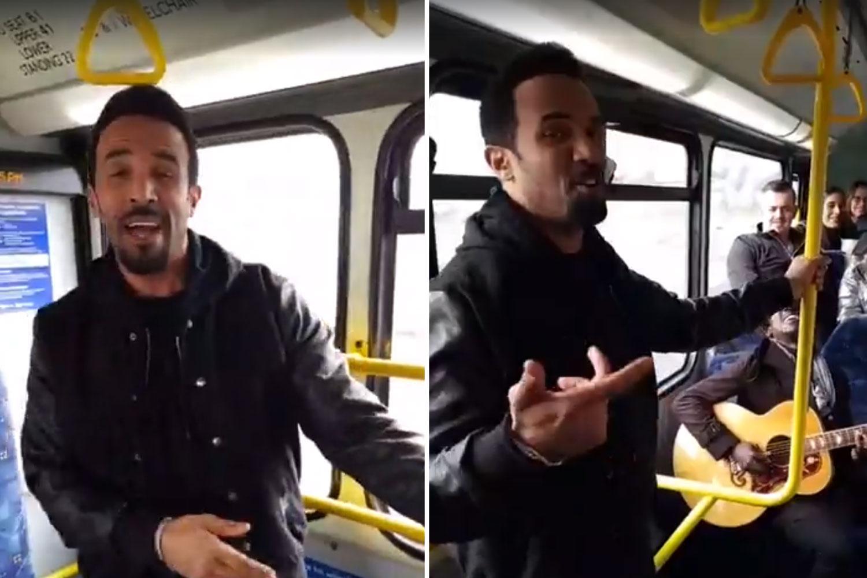 """Крейг Дейвид изненада пътници в автобус с изпълнение на """"Seven days"""""""