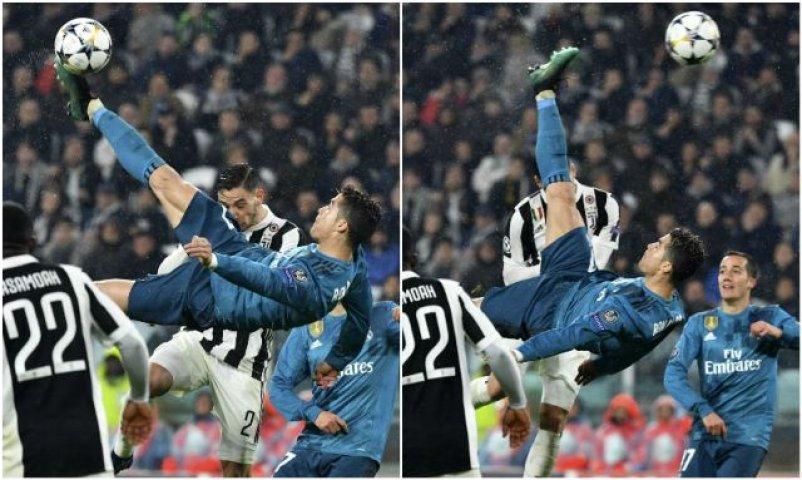 """Изненада: Задната ножица на Роналдо срещу """"Юве"""" не e №1 за кръга в ШЛ"""