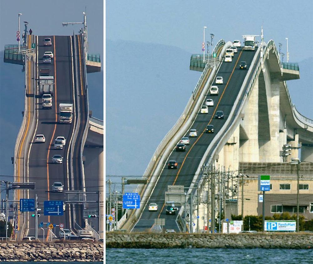 Това не е влакче от Disneyland, а мост в Япония