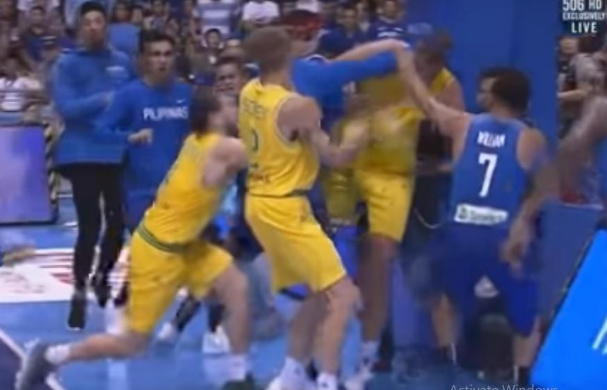 Див бой на баскетболен мач Филипините – Австралия (ВИДЕО)