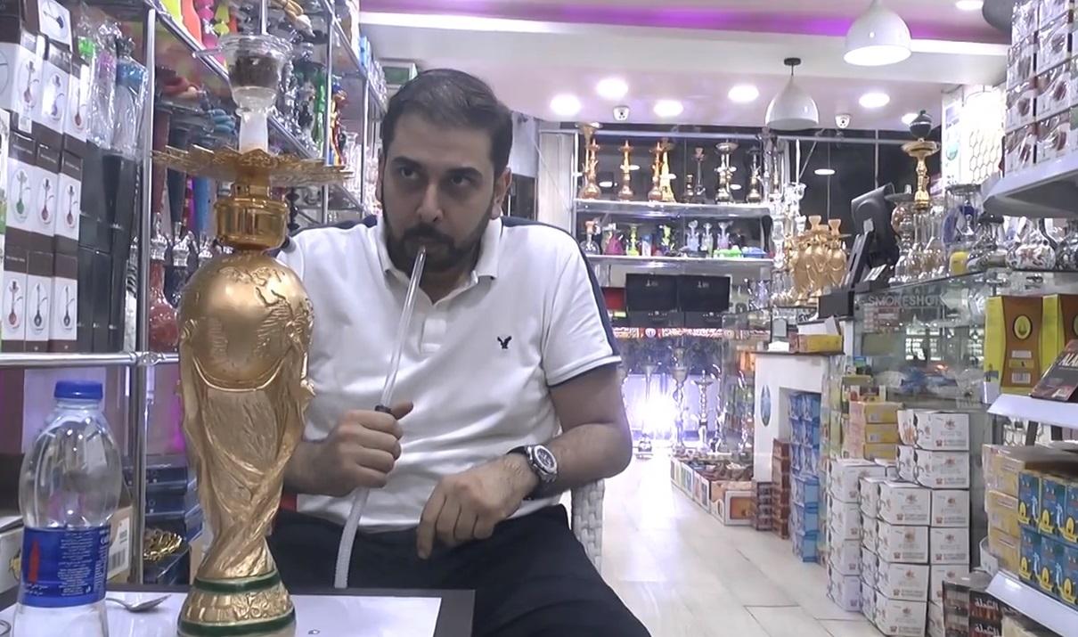 В Египет си направиха наргиле от световната купа по футбол