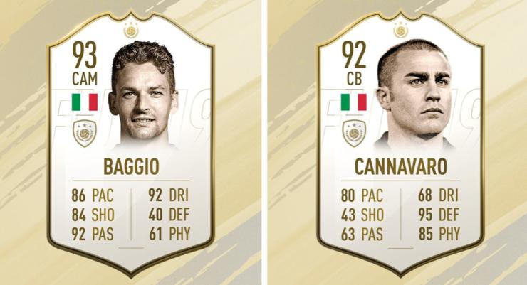 Баджо и Канаваро се завръщат в игра във FIFA 19