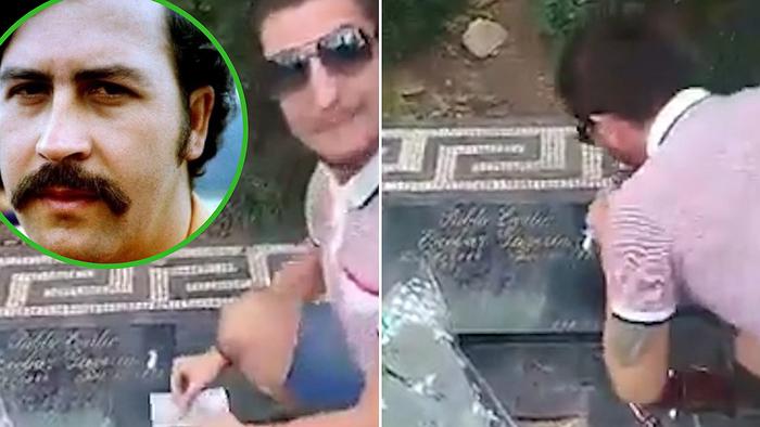 Смъртни заплахи за мъжа, шмъркал на гроба на Пабло Ескобар