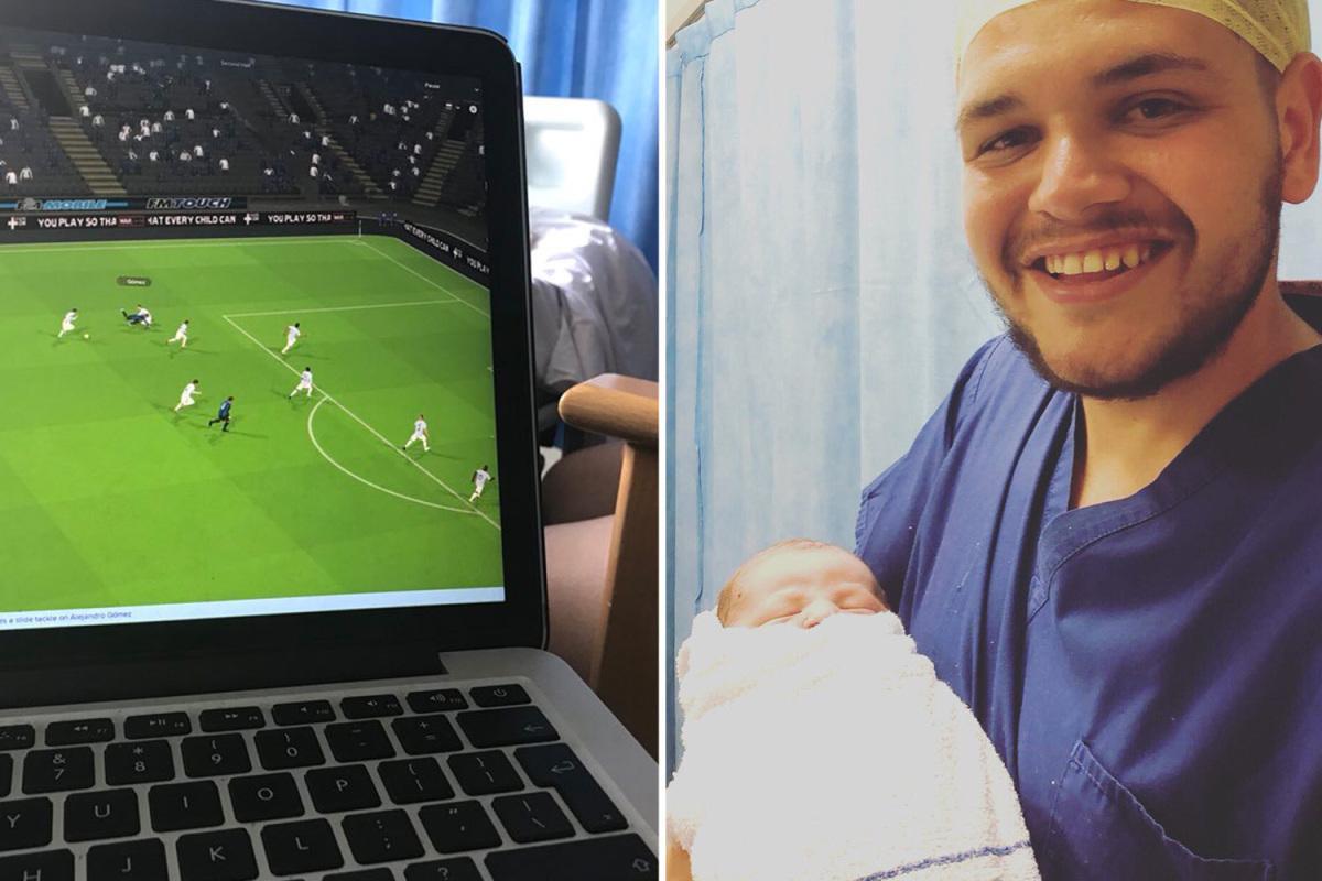 """Мъж игра 18 часа """"Футбол Мениджър"""", докато жена му ражда"""