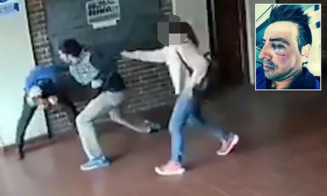 ВИДЕО: Ядосан баща нанася 22 удара за 15 секунди на учител, закачал дъщеря му