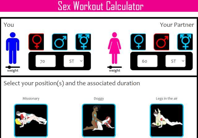 """Онлайн секс калкулатор показва колко калории гориш при различните пози, отчита и като """"биеш катерицата"""""""