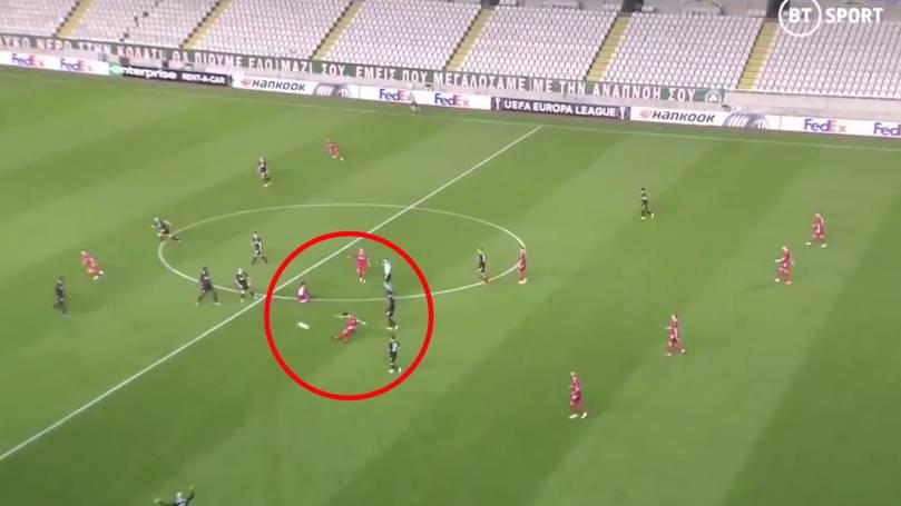 Разочарова в Първа лига, сега вкара гол №1 в Лига Европа (ВИДЕО)