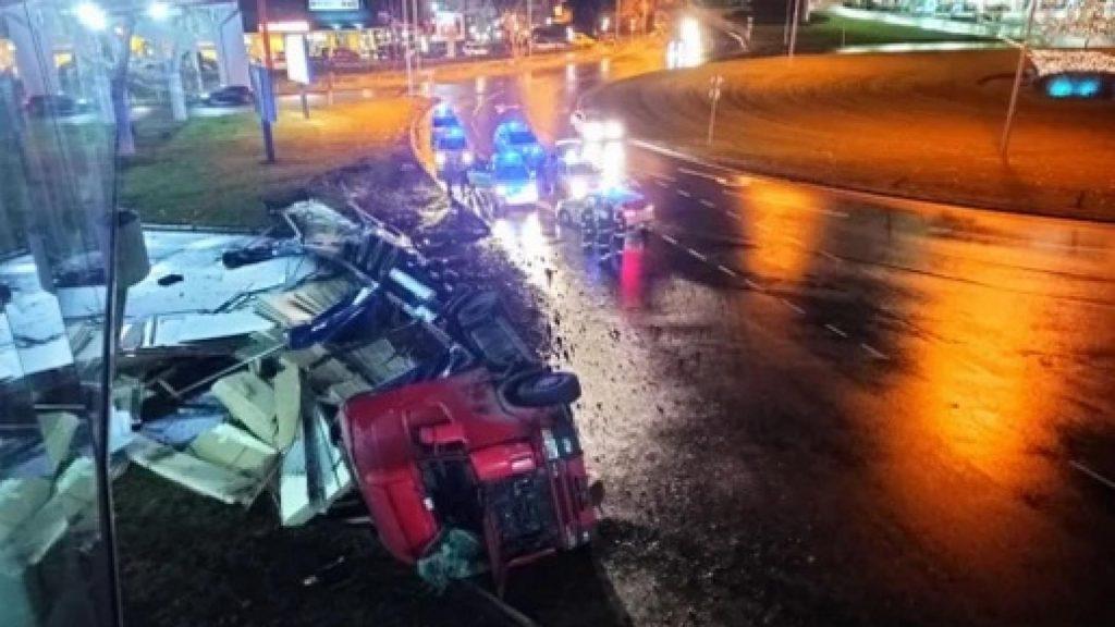 18-годишен открадна тир в Бургас, направи си гонка с 8 патрулки